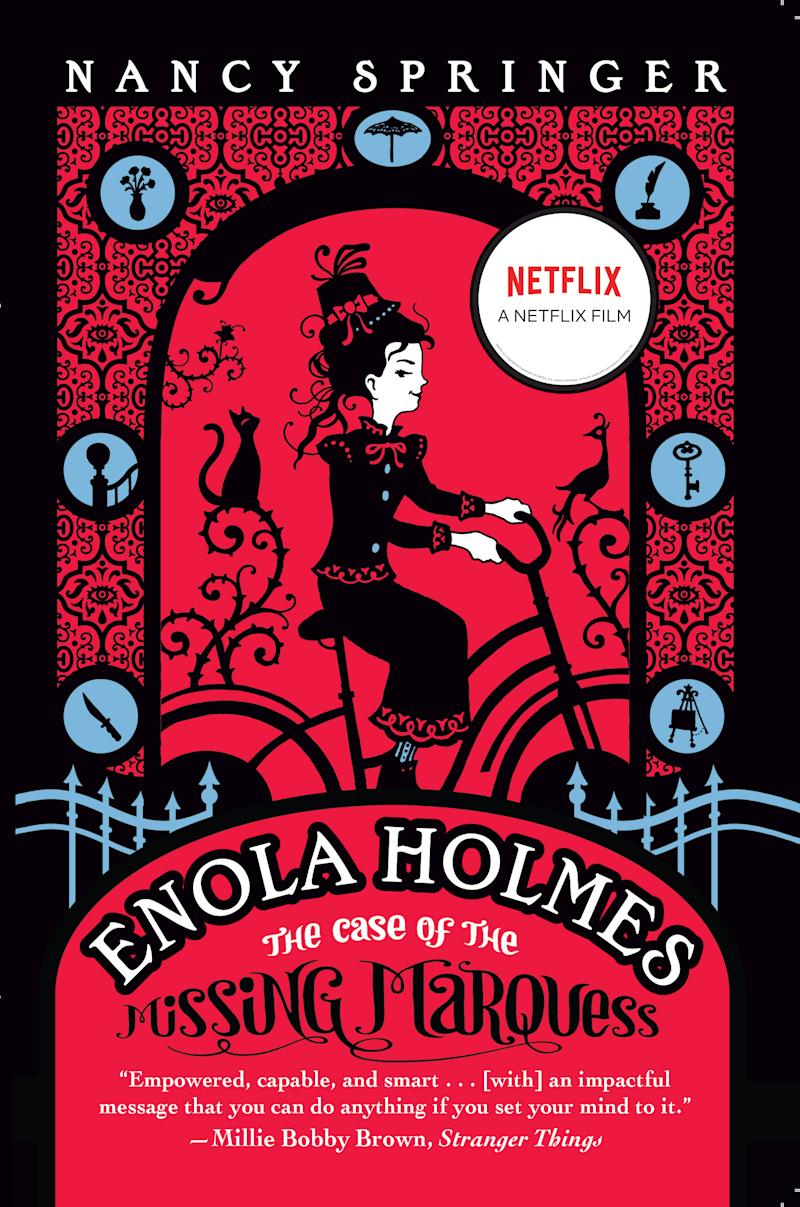 Enola Holmes: The Case of the Missing Marquess by Nancy Springer. Image via Indigo.