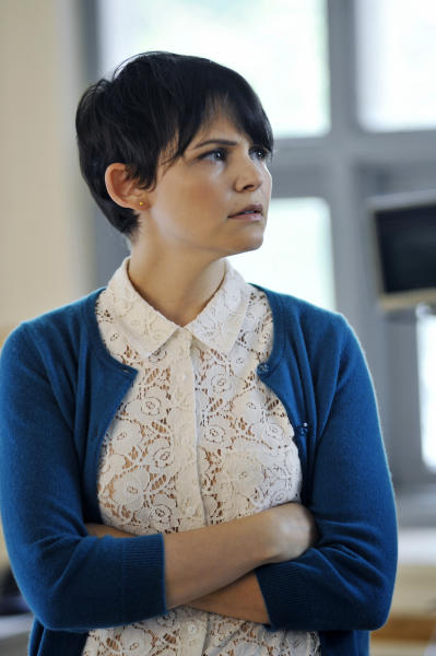 "In this image provided by ABC, Ginnifer Goodwin portrays schoolteacher Mary Margaret Blanchard in a scene from the ABC series ""Once Upon a Time."" (AP photo/ABC, Chris Helcermanas-Benge)"