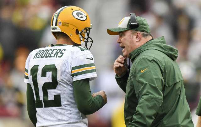 Former Packers tight end Marcedes Lewis detailed more disfunction between Aaron Rodgers and former coach Mike McCarthy on Thursday. (Jonathan Newton/The Washington Post via Getty Images)