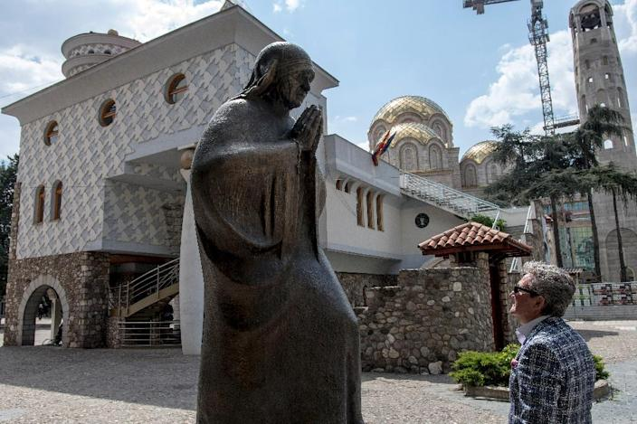 Mother Teresa, who was canonised in 2016, lived in Skopje when it was still part of the Ottoman Empire (AFP Photo/Robert ATANASOVSKI)