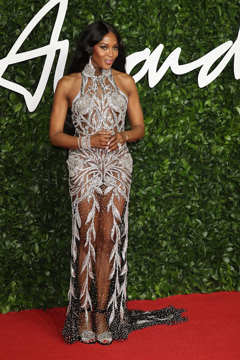 Naomi Campbell arrives at The Fashion Awards 2019