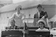 <p>Prince Phillip with Queen Elizabeth II and their children Prince Charles and Princess Anne during a visit to the Isles of Scilly.</p>