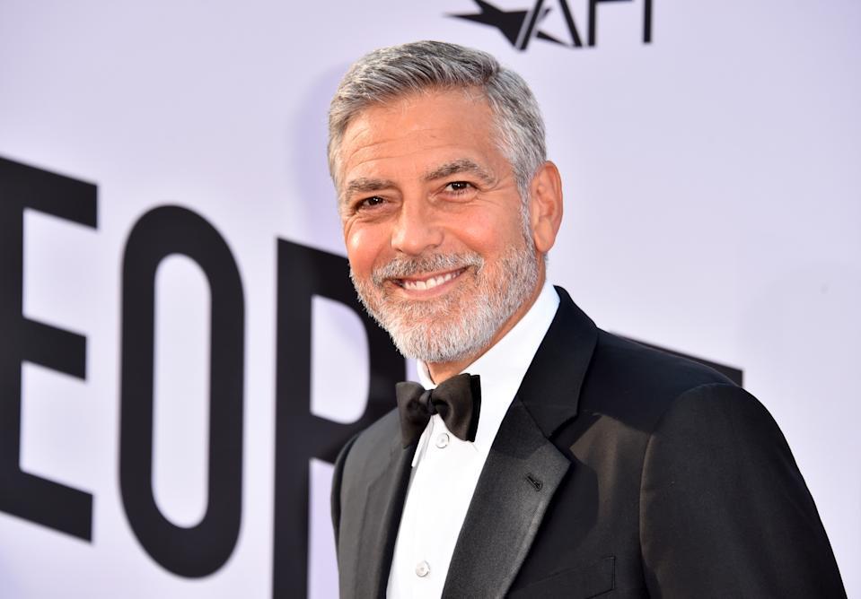 George Clooney, 58, is the king of grey hair. (Getty Image)