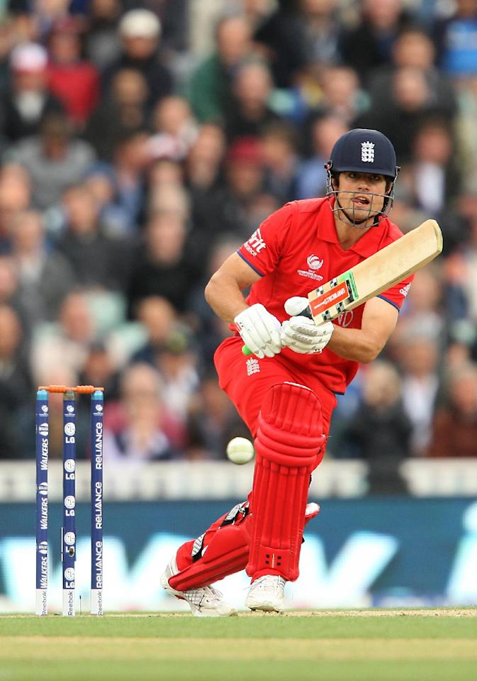England's Alastair Cook in action during the ICC Champions Trophy match at The Kia Oval, London.