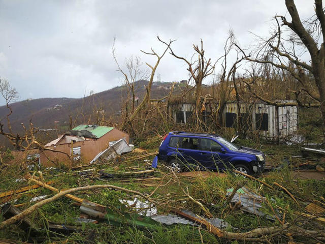 <p>Storm damage in the aftermath of Hurricane Irma in Tortola, in the British Virgin Islands, on Sept. 7, 2017. (Photo: Jalon Manson Shortte via AP) </p>