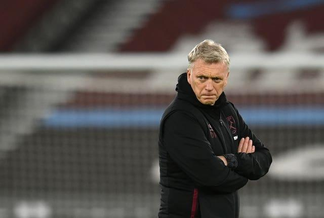 West Ham manager David Moyes with arms folded