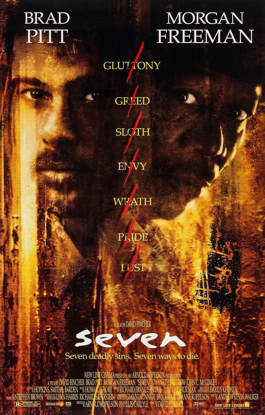 "<p><em>Seven</em> is another riveting psychological crime thriller about a serial killer, but in this one, the killer bases his murders on the Seven Deadly Sins. Two detectives (Brad Pitt, Morgan Freeman) must team up to catch him before he strikes again. </p><p><a class=""link rapid-noclick-resp"" href=""https://www.amazon.com/Seven-Brad-Pitt/dp/B00464AVXW?tag=syn-yahoo-20&ascsubtag=%5Bartid%7C10055.g.34396232%5Bsrc%7Cyahoo-us"" rel=""nofollow noopener"" target=""_blank"" data-ylk=""slk:WATCH ON AMAZON"">WATCH ON AMAZON</a> </p>"