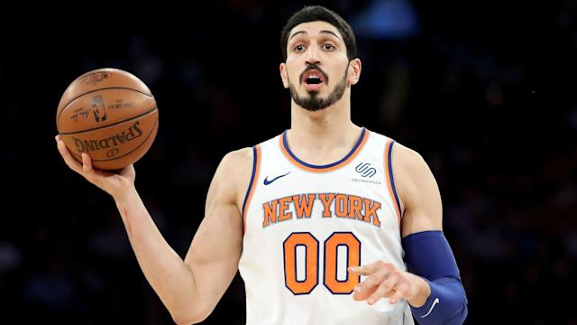 The Atlanta Hawks' tweet about his fall upset New York Knicks center Enes Kanter.