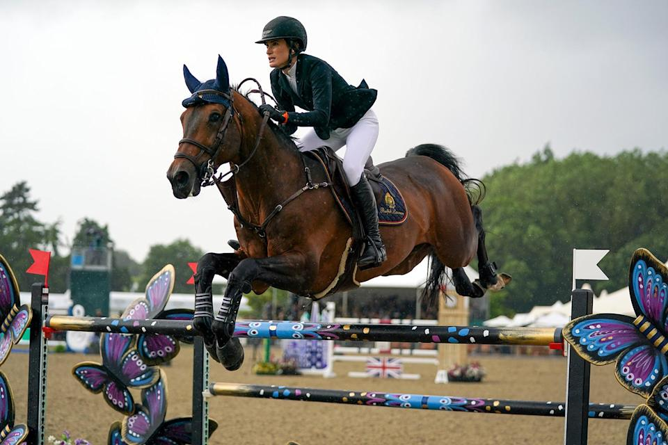 Jessica Springsteen riding Don Juan van de Donkhoeve competes in the Rolex Grand Prix at the Royal Windsor Horse Show, Windsor. - Credit: Steve Parsons/PA Wire/AP