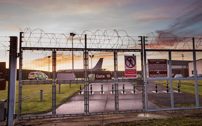RAF Mildenhall was placed on lockdown after the security scare - GEOFF ROBINSON PHOTOGRAPHY
