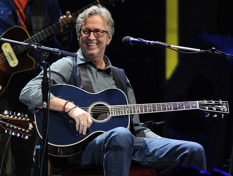 Musician Eric Clapton performs at Eric Clapton's Crossroads Guitar Festival 2013 at Madison Square Garden on Friday April 12, 2013 in New York. (Photo by Evan Agostini/Invision for Hard Rock International/AP Images)