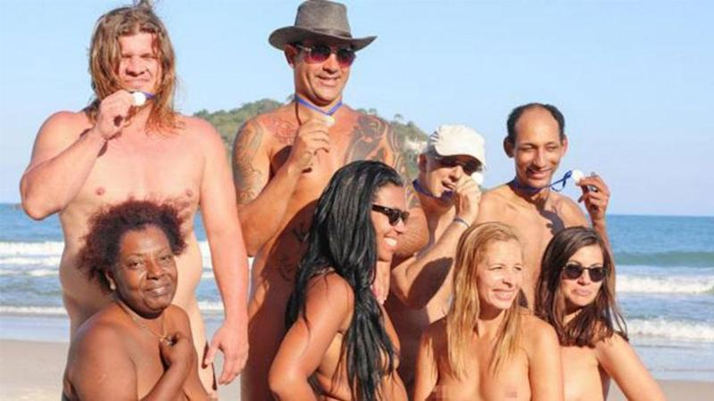 Nudists Host Their Own Version Of The Olympics On A Rio Beach
