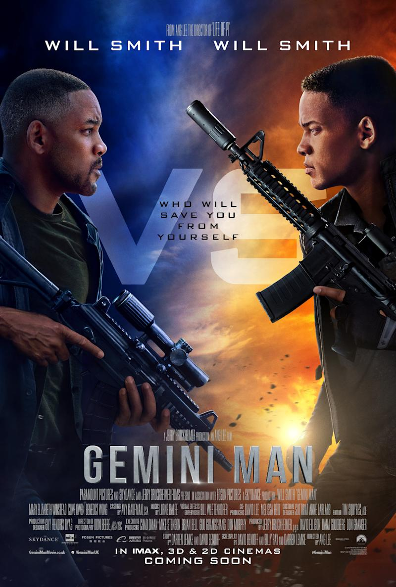 Gemini Man's UK poster offers two Will Smiths for the price of one. (Paramount)