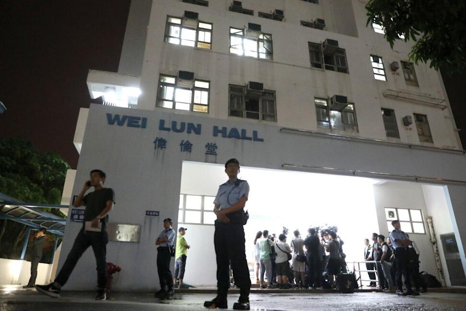 Police hold a media briefing on the Cheung Kie-chung case at Wei Lun Hall in Sassoon Road in August. Photo: K. Y. Cheng