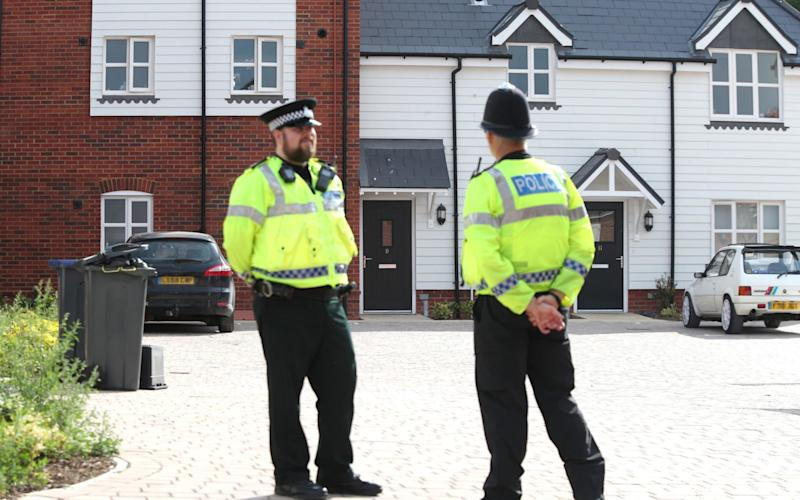 Police have been searching Charlie Rowley's house in Amesbury, Wiltshire - PA
