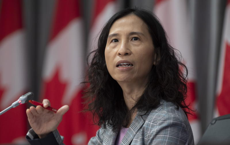 Chief Public Health Officer Theresa Tam speaks during a technical briefing, Tuesday, April 28, 2020 in Ottawa. THE CANADIAN PRESS/Adrian Wyld