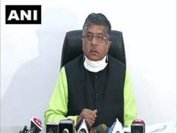 Union Law Minister Ravi Shankar Prasad alleged the West Bengal government is creating an atmosphere of fear in the state. (Photo/ANI)