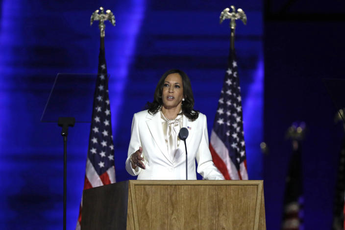 Sen. Kamala Harris's rise to the vice presidency is resonating with girls of color. (Photo: Carolyn Cole / Los Angeles Times via Getty Images)