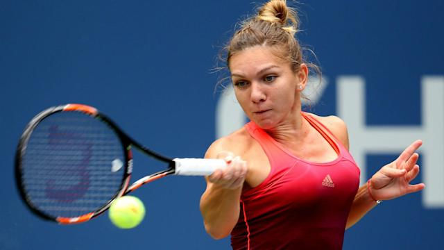Simona Halep needed 66 minutes to book her place in the Guangzhou International Women's Open last eight on Wednesday.