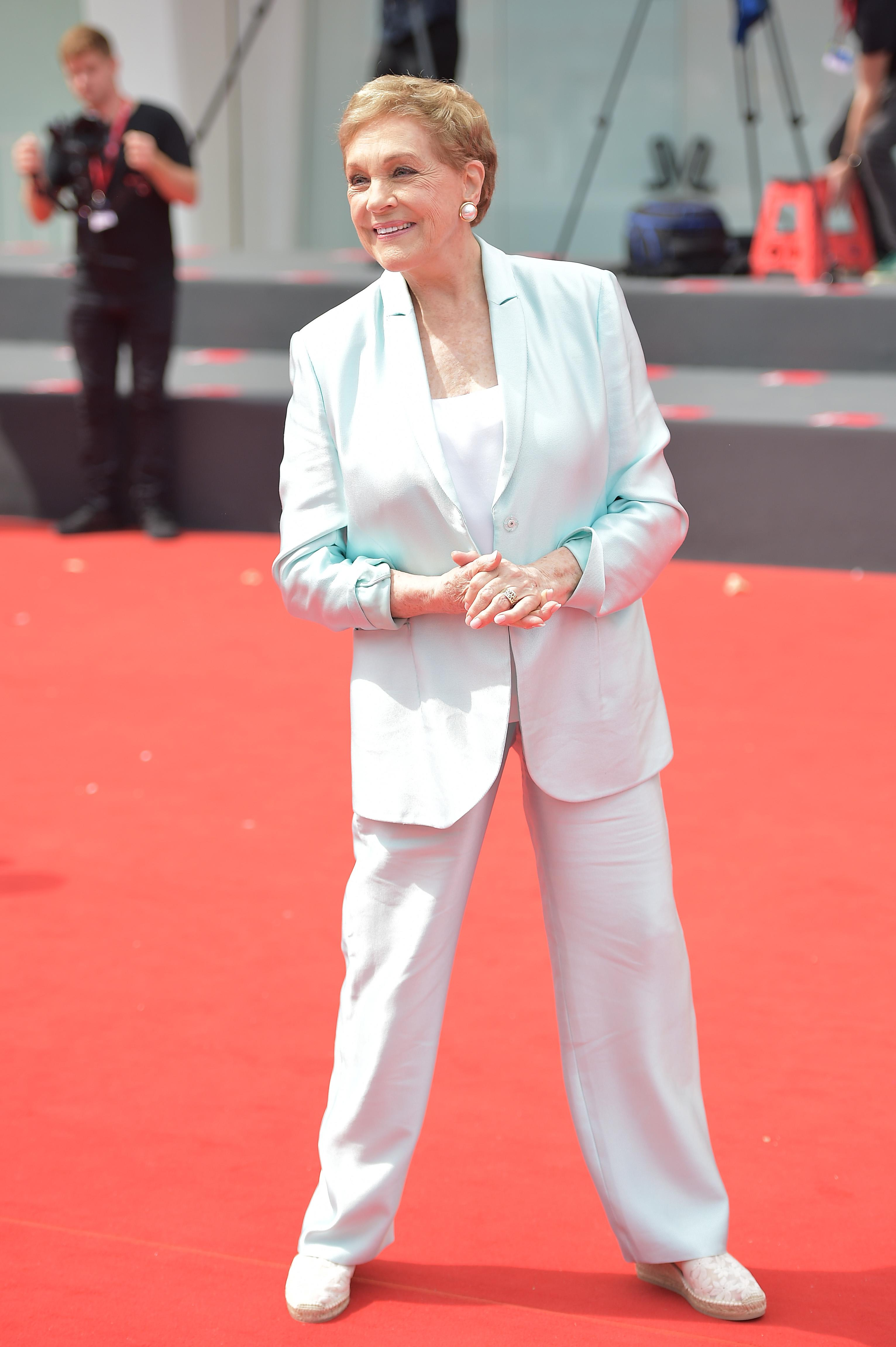 Julie Andrews arrives to be awarded the Golden Lion for Lifetime Achievement during the 76th Venice Film Festival [Photo: Getty Images]