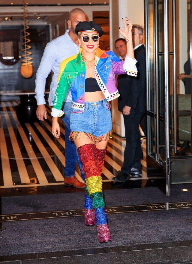 Lady Gaga Makes Surprise Appearance at NYC Pride -- See Her Heartfelt Speech and Epic Outfit