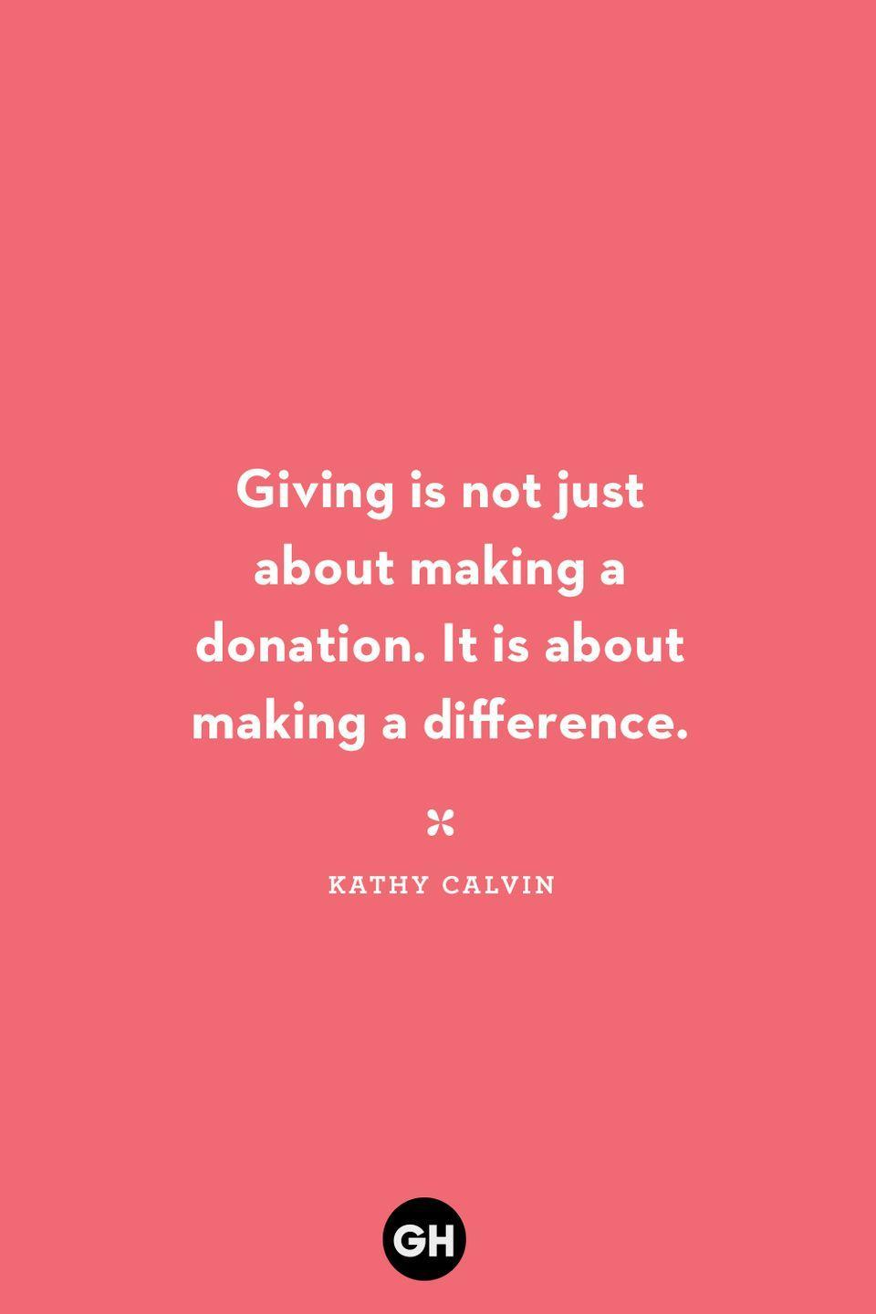 <p>Giving is not just about making a donation. It is about making a difference.</p>