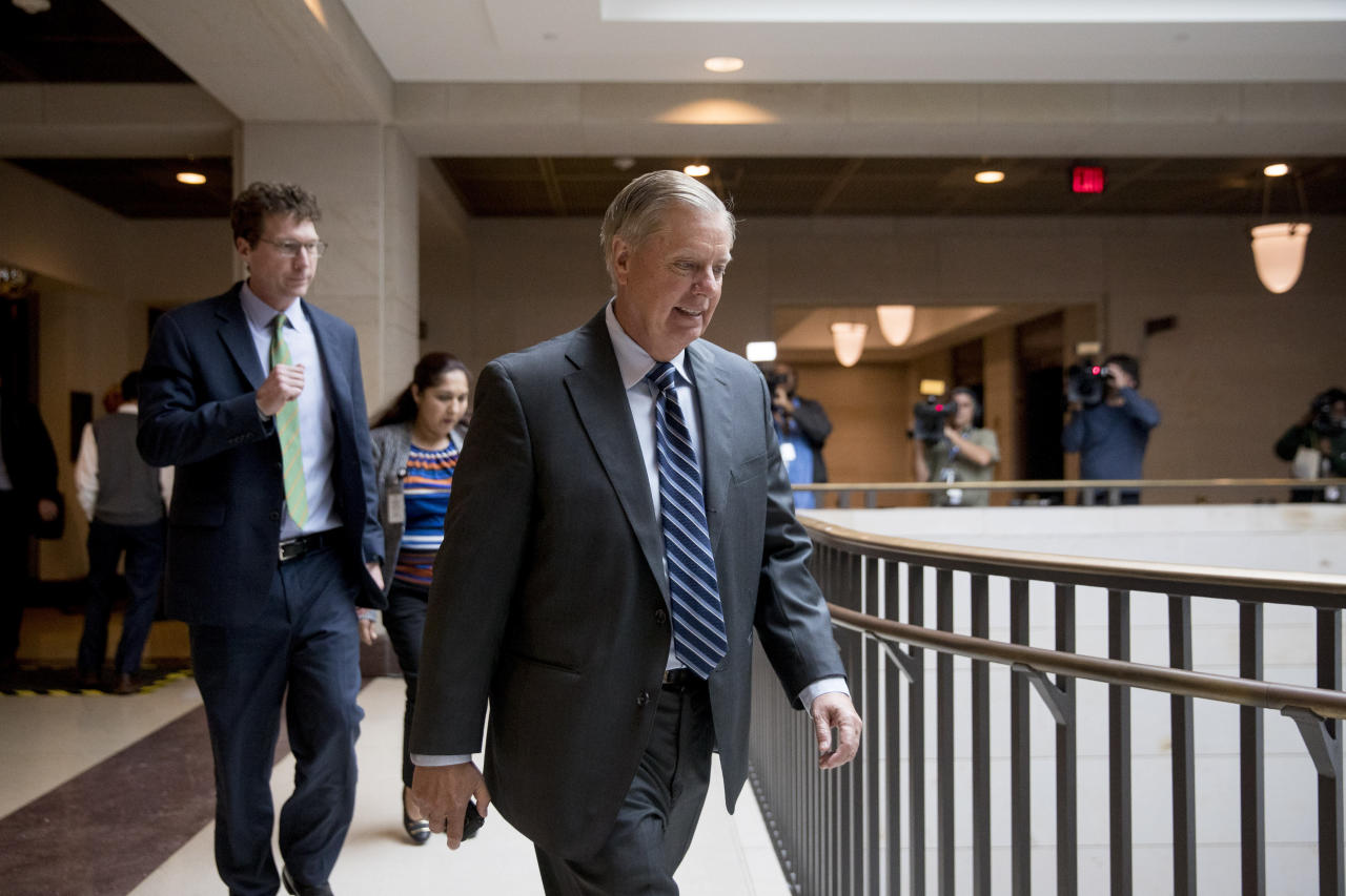 Golf buddies no more? Trump, Graham swing apart over Syria