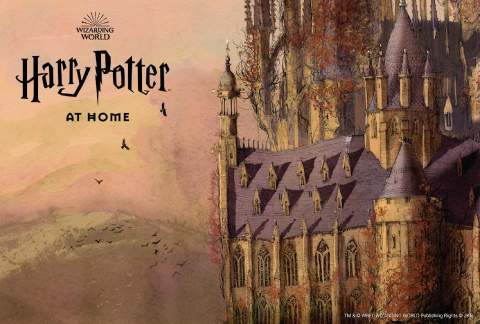 Harry Potter At Home (TM and WBEI/ Wizarding world. Publishing Rights JKR)