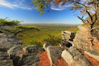 """<p><strong>Best camping in Alabama:</strong> Cheaha State Park</p> <p>Most travelers don't go to <a href=""""https://www.cntraveler.com/story/the-reinvention-of-birmingham-alabama?mbid=synd_yahoo_rss"""" rel=""""nofollow noopener"""" target=""""_blank"""" data-ylk=""""slk:Alabama"""" class=""""link rapid-noclick-resp"""">Alabama</a> for the mountain views, but this 77-site campground flips the script. Meaning """"high place"""" in Creek, Cheaha State Park is set at a breezy 2,407 feet above sea level and provides an amenity-rich woodland haven (we're talking bathhouses, fire rings, and electrical hookups), catering to hikers, bikers, and <a href=""""https://www.cntraveler.com/story/a-beginners-guide-to-climbing?mbid=synd_yahoo_rss"""" rel=""""nofollow noopener"""" target=""""_blank"""" data-ylk=""""slk:climbers"""" class=""""link rapid-noclick-resp"""">climbers</a>.</p>"""