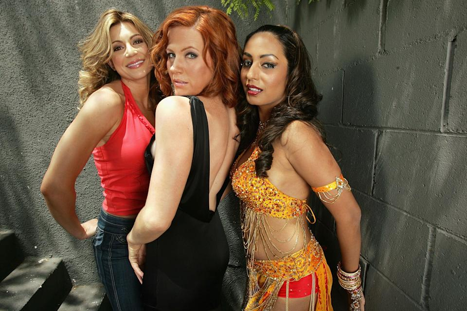 """<p>File image: Cerina Vincent, Elisa Donovan and Kashmira Shah pose for a portrait on the set of """"The Prince, The Pimp, The Jackal And The Spayed"""" in 2007</p> (Getty Images)"""