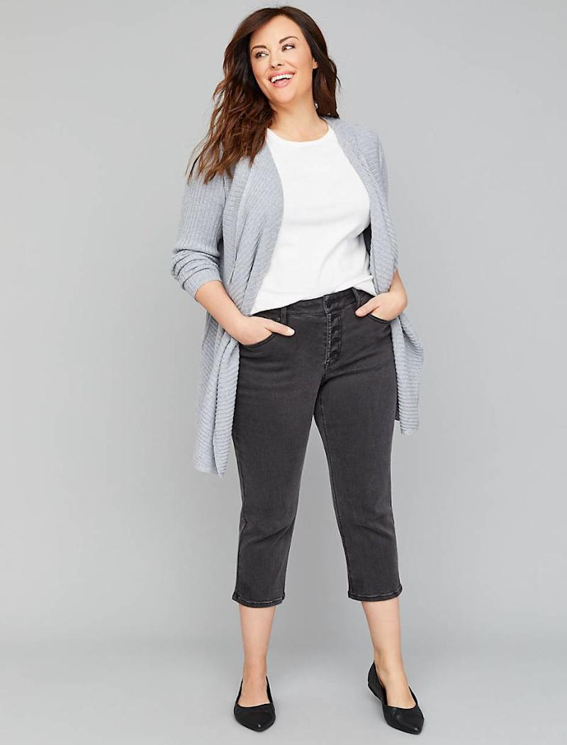 Lane Bryant High-Rise Straight Crop Jean (Photo: Lane Bryant)