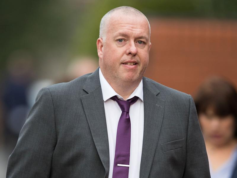 Andrew Lewis, who has pleaded guilty to causing grievous bodily harm by punching rival fan Paul O'Donnell: PA