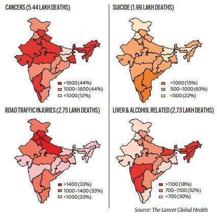 Premature deaths in India: Different causes, different states