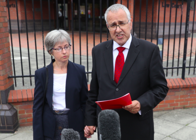 <em>Paula and Nigel Burt said the posts about their dead daughter were causing them 'continuing anxiety and distress' (PA)</em>