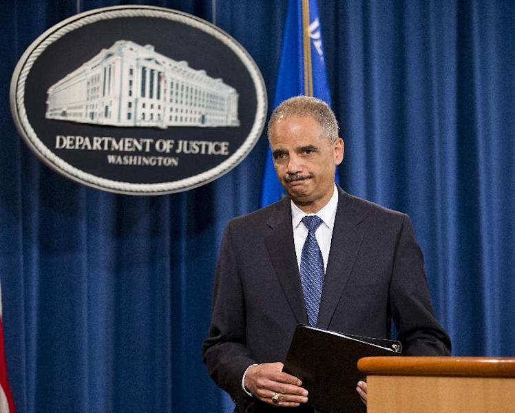 FILE - In this June 25, 2013 file photo, Attorney General Eric Holder leaves a news conference at the Justice Department in Washington. If the Obama administration seeks the death penalty against Boston Marathon bombing suspect Dzhokhar Tsarnaev, it would face a long, difficult legal battle with uncertain prospects for success in a state that hasn't seen an execution in nearly 70 years. Attorney General Eric Holder will have to decide several months before the start of any trial whether to seek death for Tsarnaev. It is the highest-profile death-penalty decision yet to come before Holder, who personally opposes the death penalty. (AP Photo/J. Scott Applewhite, File)
