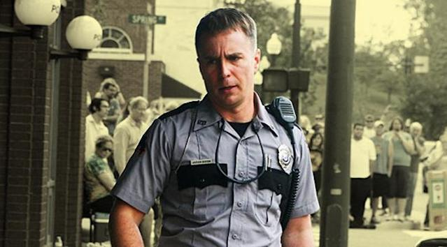 Sam Rockwell in <em>Three Billboards Outside Ebbing, Missouri.</em> (Photo: 20th Century Fox)
