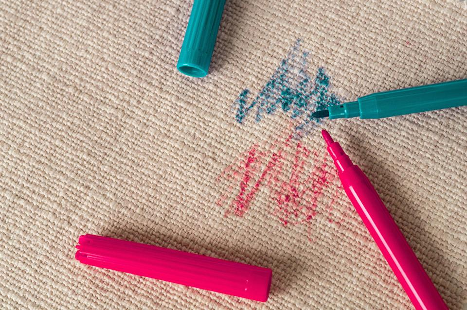 What is it with kids and pens on sofas? (Getty Images)