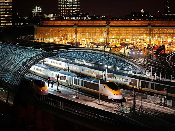 The HS1 line runs from St Pancras until it goes underground in Kent (Getty Images)