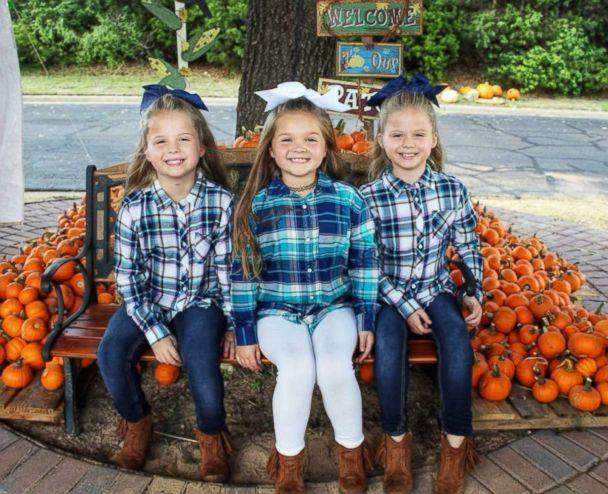 PHOTO: The Grabenstein sisters Landri, 6, and Alli and Maddi, both 8, are seen here without their Halloween makeup. (Courtesy Heather Grabenstein)