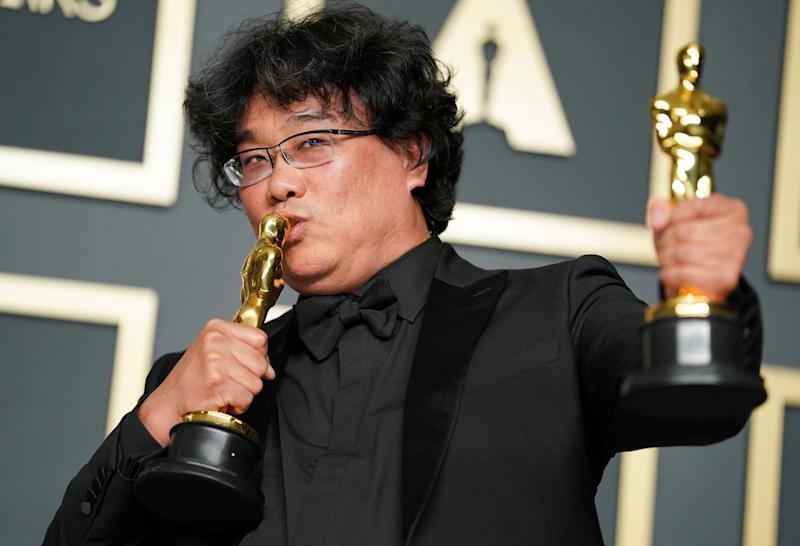 HOLLYWOOD, CALIFORNIA - FEBRUARY 09: Bong Joon-ho, winner of the Original Screenplay, International Feature Film, Directing, and Best Picture award for