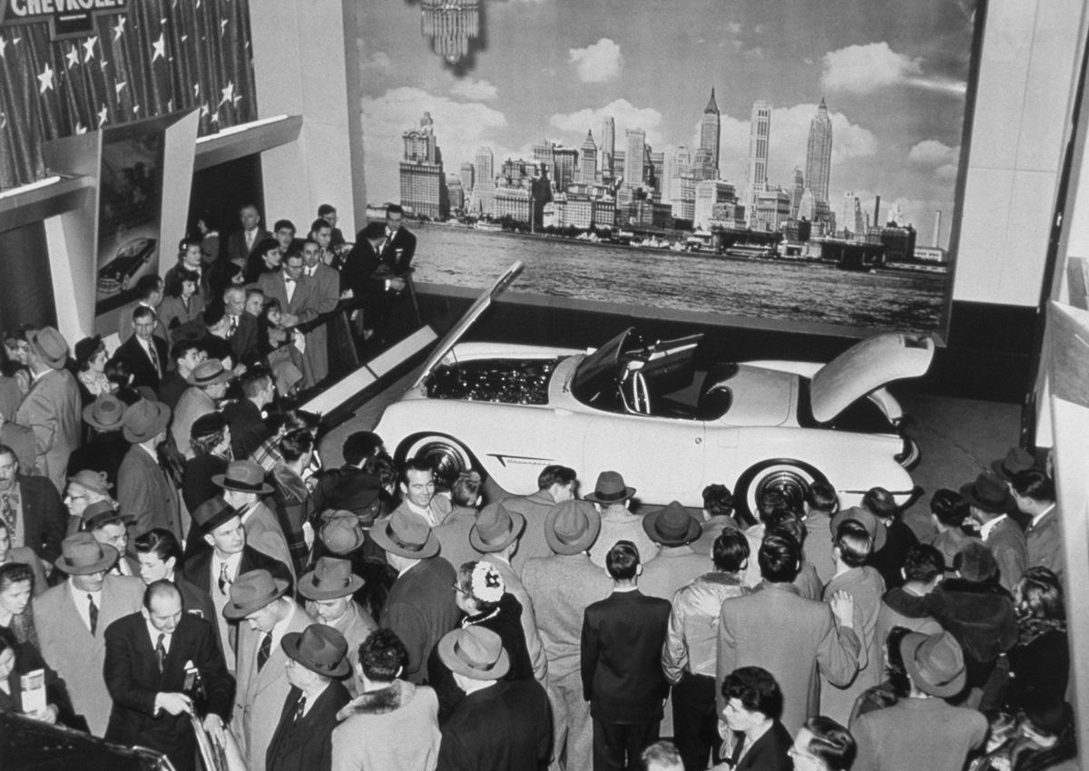 Chevy unveils the 1953 Corvette at GM's Motorama show