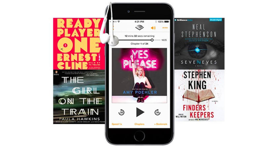 Give humor, mystery, and classics—with Audible. (Photo: Audible)