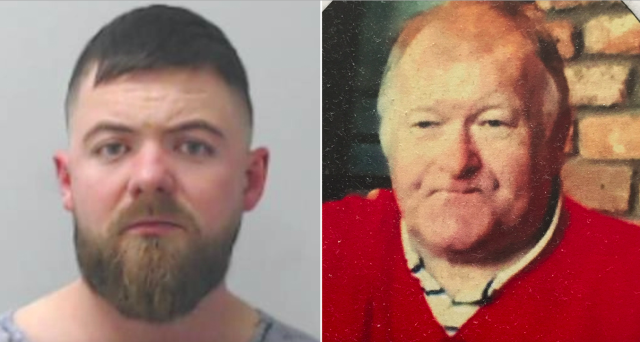 Martin Henderson (l) lost control of his car and smashed into a bus stop, throwing Allan Forbes (r) into a nearby car park. (PA)