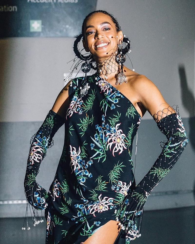 ed11b7d9fc4 The Story Behind Solange's Mesmerizing Sculptural Braids for the Kenzo Show