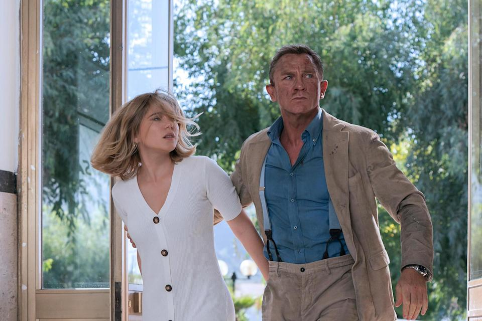 Léa Seydoux and Daniel Craig in 'No Time to Die' (MGM)