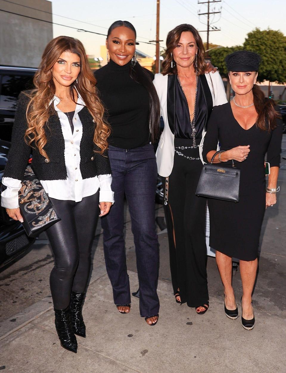 <p>Jersey's Teresa Giudice, Atlanta's Cynthia Bailey, New York's Luann de Lesseps and Beverly Hills' Kyle Richards get dinner at Craig's in West Hollywood on Oct. 13.</p>