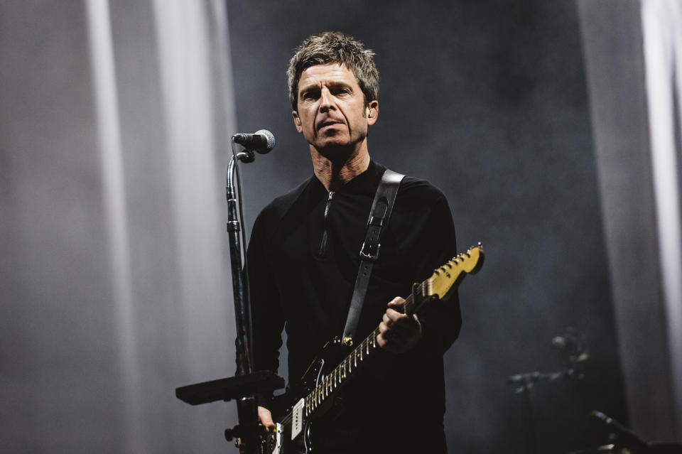 MADRID, SPAIN - JULY 11: Noel Gallagher of Noel Gallagher's High Flying Birds performs on stage during day 1 of Madcool Festival on July 11, 2019 in Madrid, Spain. (Photo by Mariano Regidor/Redferns)