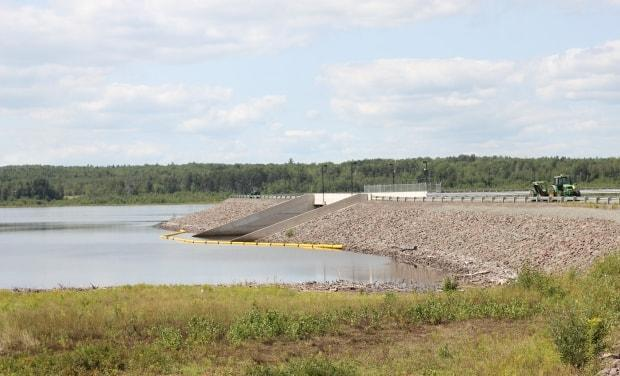 Moncton's Tower Road dam, one of two of the city's drinking water reservoirs in the Turtle Creek area.