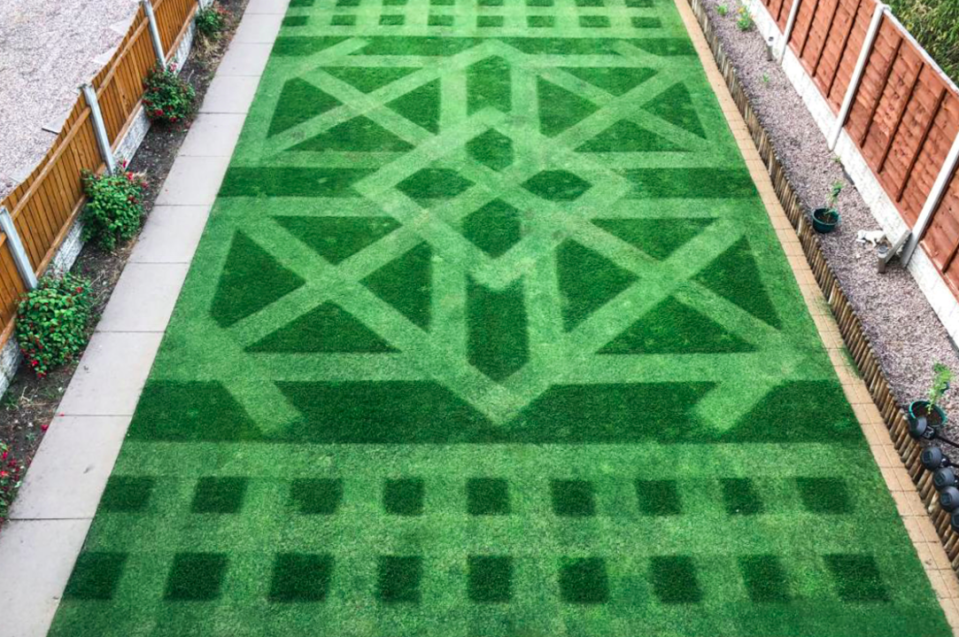 <em>Keith Smith wowed judges at this year's Creative Lawn Stripes Competition with his unique design (Caters/Keith Smith)</em>