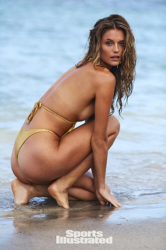 "<p>Kate Bock was photographed by Josie Clough in Nevis. Swimsuit by <a href=""https://shophausofpinklemonaid.com/"" rel=""nofollow noopener"" target=""_blank"" data-ylk=""slk:HAUS OF PINKLEMONAID"" class=""link rapid-noclick-resp"">HAUS OF PINKLEMONAID</a>.</p>"